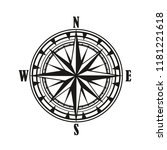 vintage compass rose isolated... | Shutterstock .eps vector #1181221618