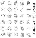 thin line vector icon set  ... | Shutterstock .eps vector #1181222338