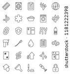 thin line vector icon set  ...   Shutterstock .eps vector #1181222398