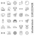 thin line vector icon set  ... | Shutterstock .eps vector #1181222428
