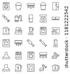 thin line vector icon set  ... | Shutterstock .eps vector #1181222542
