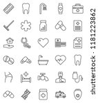 thin line vector icon set  ... | Shutterstock .eps vector #1181223862