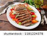 tasty homemade ground  baked... | Shutterstock . vector #1181224378