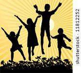 children jumping in the sun   Shutterstock . vector #11812252