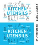 kitchen utensil with cooking...   Shutterstock .eps vector #1181226865