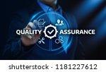 quality assurance service... | Shutterstock . vector #1181227612