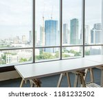 empty table in the room office... | Shutterstock . vector #1181232502