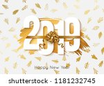 2019 happy new year background. ... | Shutterstock .eps vector #1181232745