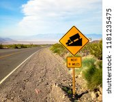 usa. death valley. sign at the... | Shutterstock . vector #1181235475