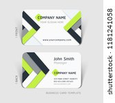 business card abstract... | Shutterstock .eps vector #1181241058