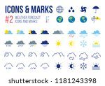 set of weather forecast icons...