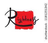 rightness   simple inspire and... | Shutterstock .eps vector #1181251342