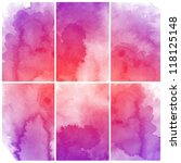 set of colorful abstract... | Shutterstock . vector #118125148