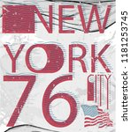 new york fashion style tee art... | Shutterstock .eps vector #1181253745