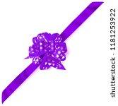 beautiful big corner bow made... | Shutterstock . vector #1181253922