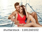 young man and his beautiful... | Shutterstock . vector #1181260102