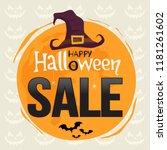 halloween sale banner. vector...   Shutterstock .eps vector #1181261602