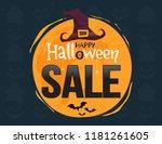 halloween sale. banner on night ...   Shutterstock .eps vector #1181261605