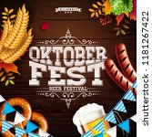 oktoberfest banner illustration ...   Shutterstock .eps vector #1181267422