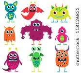 vector collection of cute... | Shutterstock .eps vector #118126822
