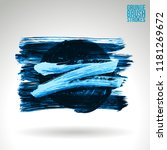 blue brush stroke and texture.... | Shutterstock .eps vector #1181269672