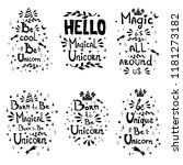 set of hand drawn magical... | Shutterstock .eps vector #1181273182