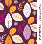 autumn leaves pattern... | Shutterstock .eps vector #1181273938