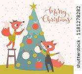 modern style cartoon christmas... | Shutterstock .eps vector #1181278282