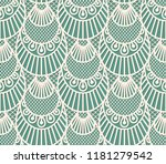 seamless decorative lace scales ... | Shutterstock .eps vector #1181279542