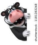 fun cow   3d illustration   Shutterstock . vector #1181283268