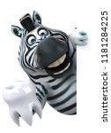 fun zebra   3d illustration   Shutterstock . vector #1181284225