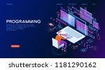 programming web banner. best... | Shutterstock .eps vector #1181290162
