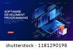 programming web banner. best... | Shutterstock .eps vector #1181290198
