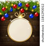 round christmas design with... | Shutterstock .eps vector #1181293012
