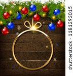round christmas design with... | Shutterstock .eps vector #1181293015