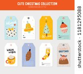 collection of christmas gift... | Shutterstock .eps vector #1181295088