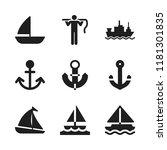 sailing icon. 9 sailing vector... | Shutterstock .eps vector #1181301835