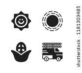 sunshine icon. 4 sunshine... | Shutterstock .eps vector #1181303485