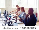 just working day. young modern... | Shutterstock . vector #1181303815