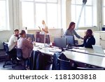 just working day. young modern... | Shutterstock . vector #1181303818