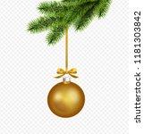 vector gold christmas... | Shutterstock .eps vector #1181303842