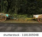Small photo of bullock carts in the village