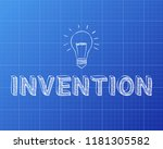 hand drawn invention sign and... | Shutterstock .eps vector #1181305582