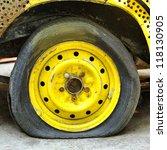 Damaged Tire.