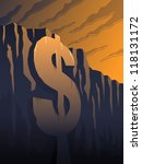 the fiscal cliff   a dollar... | Shutterstock .eps vector #118131172