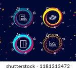 set of parcel invoice  keywords ...   Shutterstock .eps vector #1181313472