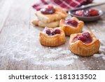 home made sweet cherry pie | Shutterstock . vector #1181313502