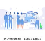 concept of business meeting.... | Shutterstock .eps vector #1181313838