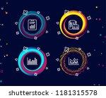 set of bar diagram  report... | Shutterstock .eps vector #1181315578