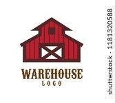warehouse barn logo | Shutterstock .eps vector #1181320588